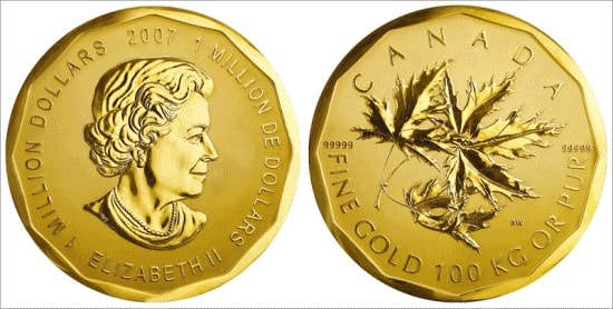 2007 C$1m coin